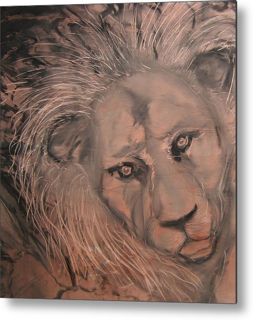 Metal Print featuring the painting Praying For Daniel by J Bauer