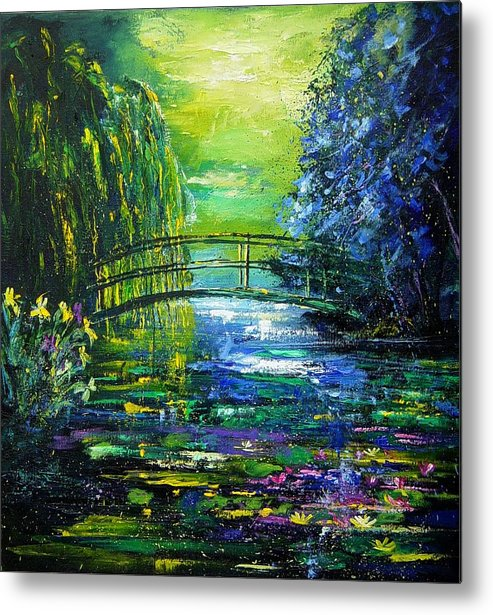 Pond Metal Print featuring the painting After Monet by Pol Ledent