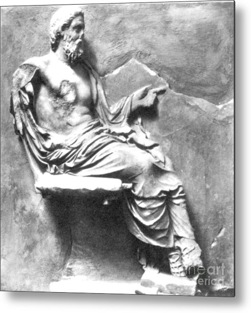 4th Century B.c. Metal Print featuring the photograph Asclepius by Granger