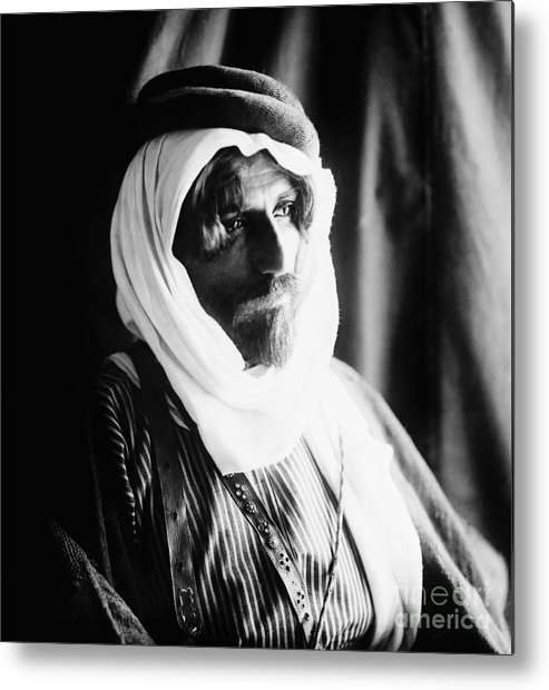 1910 Metal Print featuring the photograph Bedouin Man, C1910 by Granger