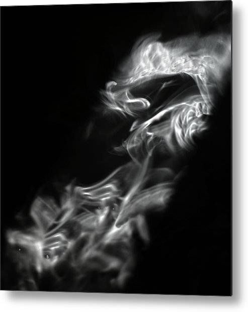 Smoke Metal Print featuring the photograph Faces In Smoke 1253 by Alfredo Martinez