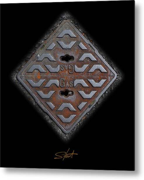 Cast Iron Metal Print featuring the photograph Iron Diamond by Charles Stuart
