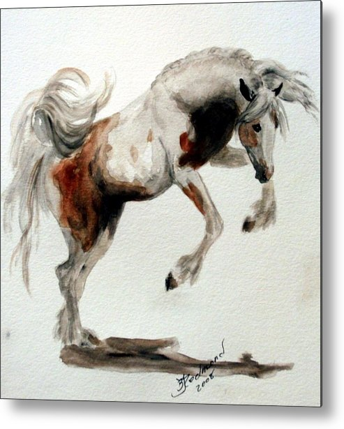 Horse Gypsy Vanner Metal Print featuring the painting Jubilant Gypsy by BJ Redmond
