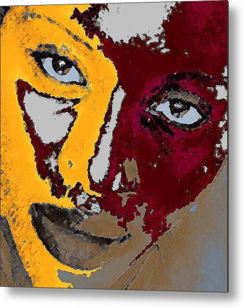 Portrait Metal Print featuring the photograph Painted Face by LeeAnn Alexander