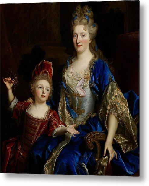 Portrait Metal Print featuring the painting Portrait Of Catherine Coustard by Nicolas de Largilliere