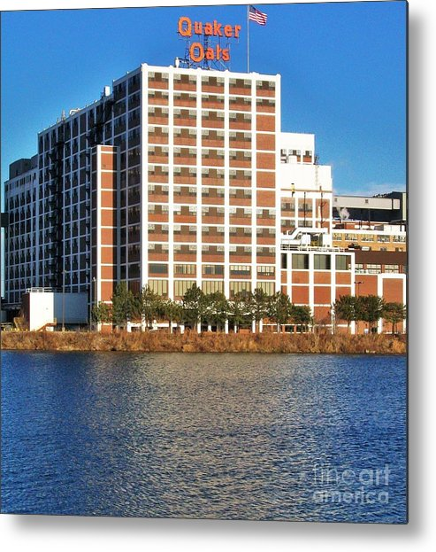 Photo Metal Print featuring the photograph Quaker Oats First Building by Marsha Heiken