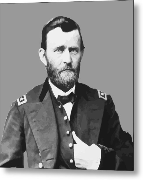 Us Grant Metal Print featuring the painting Ulysses S Grant by War Is Hell Store