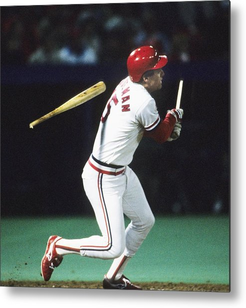 St. Louis Cardinals Metal Print featuring the photograph 1987 World Series Minnesota Twins V St 1987 by Ronald C. Modra/sports Imagery