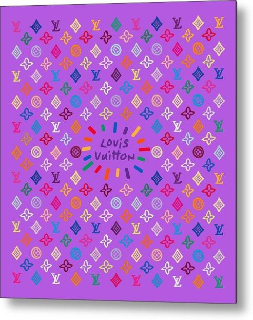 Lv Metal Print featuring the painting Louis Vuitton Monogram-5 by Nikita