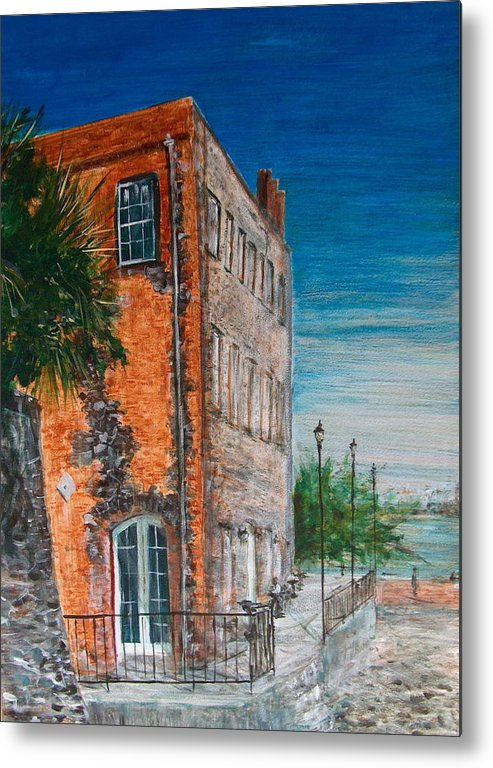 Savannah Metal Print featuring the painting River Street by Pete Maier