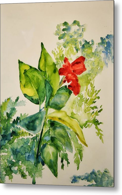Metal Print featuring the painting Passion by Helen Hickey