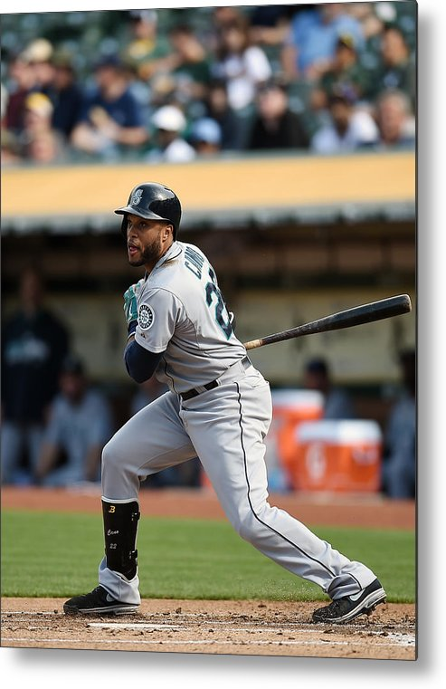 Game Two Metal Print featuring the photograph Seattle Mariners V Oakland Athletics - by Thearon W. Henderson