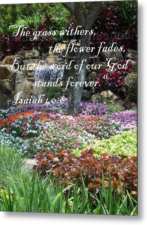 Inspirational Metal Print featuring the photograph Stands Forever by Pharris Art