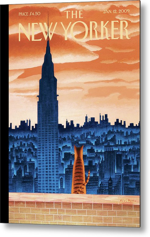 Nyc Metal Print featuring the painting The High Life by Mark Ulriksen
