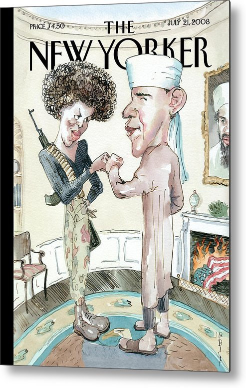 Osama Metal Print featuring the painting The Politics of Fear by Barry Blitt