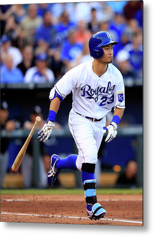 American League Baseball Metal Print featuring the photograph Chicago White Sox V Kansas City Royals by Jamie Squire