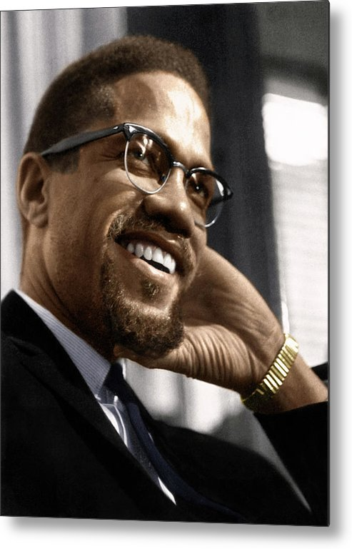1960 Metal Print featuring the photograph Malcolm X 1925-1965 by Granger