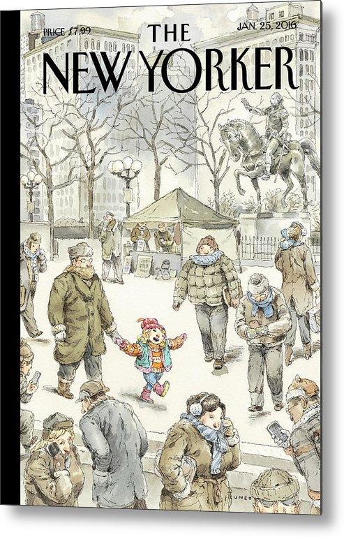 Child Metal Print featuring the painting Winter Delight by John Cuneo