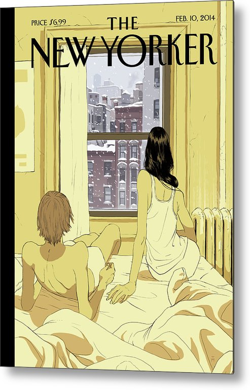 Seasons Metal Print featuring the painting Perfect Storm by Tomer Hanuka