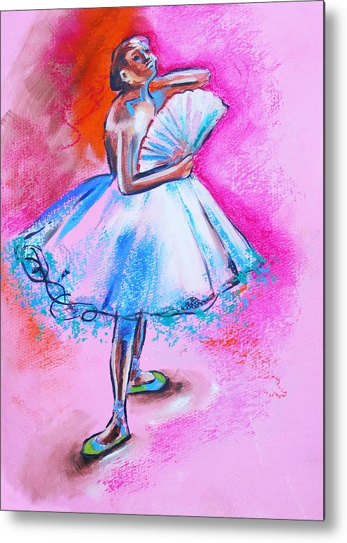 Degas Metal Print featuring the painting After Master Degas Ballerina With Fan by Susi Franco