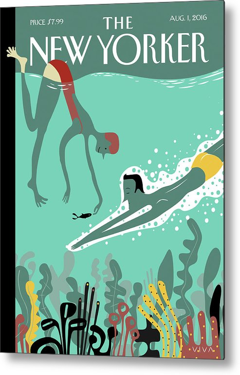 Beneath The Waves Metal Print featuring the painting Beneath The Waves by Frank Viva