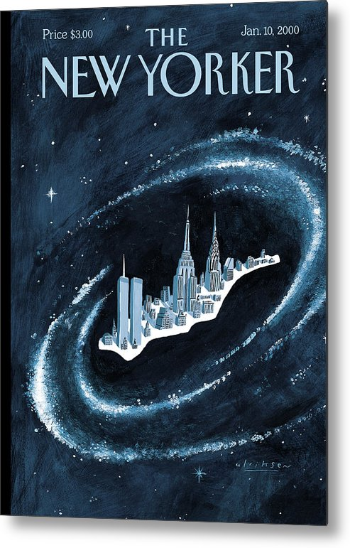 Center Metal Print featuring the painting Center Of The Universe by Mark Ulriksen