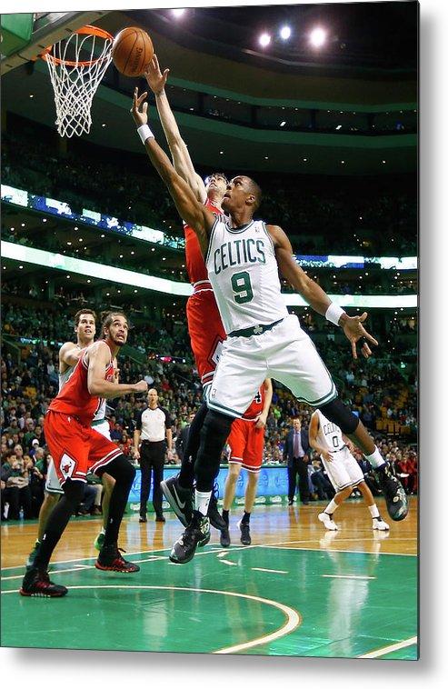 Chicago Bulls Metal Print featuring the photograph Chicago Bulls V Boston Celtics by Jared Wickerham