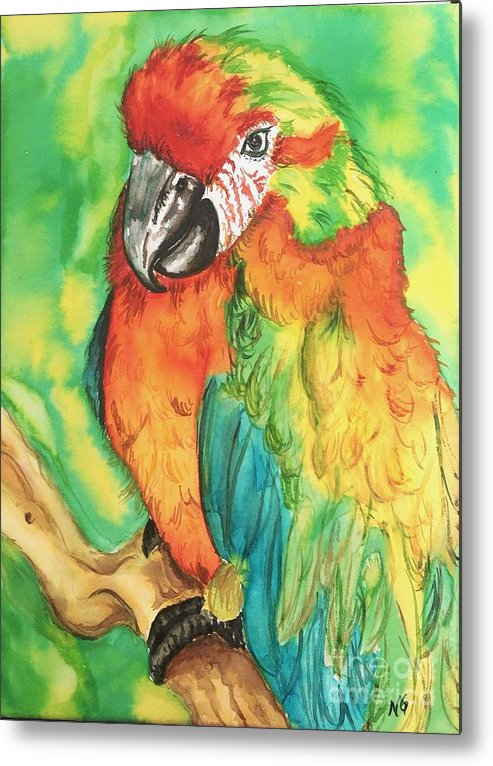 Nature Metal Print featuring the painting Chico by Norma Gafford