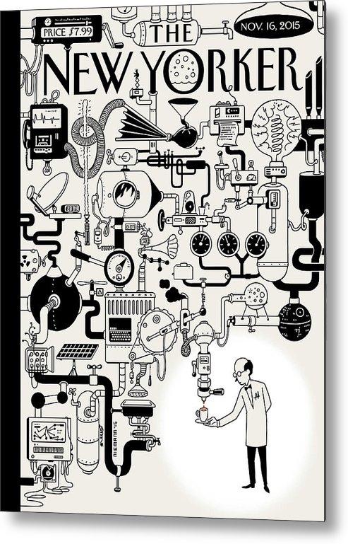 142340 Metal Print featuring the painting Coffee Break by Christoph Niemann