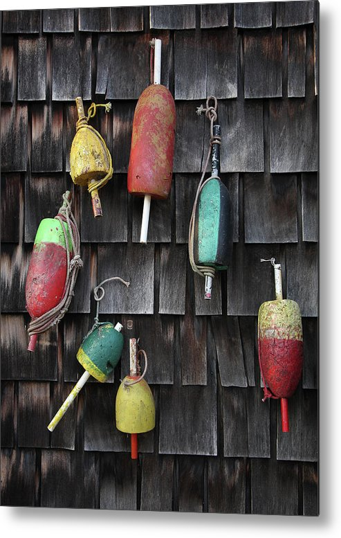 Cedar Tree Metal Print featuring the photograph Crab Pot Floats by Photo By Wayne Bierbaum; Annapolis, Maryland