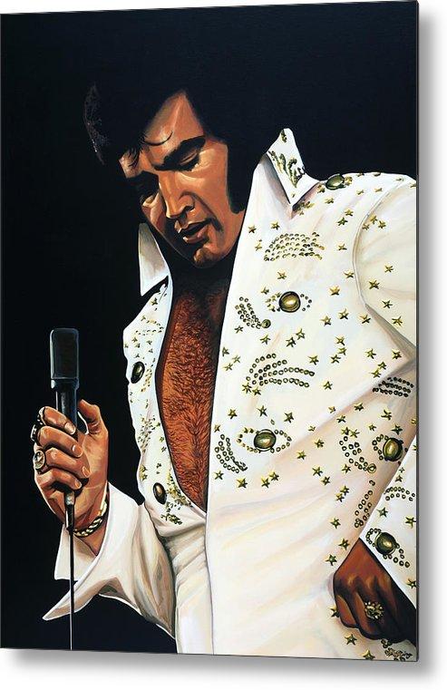 Elvis Metal Print featuring the painting Elvis Presley Painting by Paul Meijering