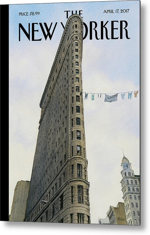 Fashion District Metal Print featuring the painting Fashion District by Harry Bliss
