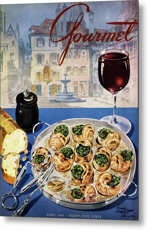 Food Metal Print featuring the photograph Gourmet Cover Illustration Of A Platter by Henry Stahlhut