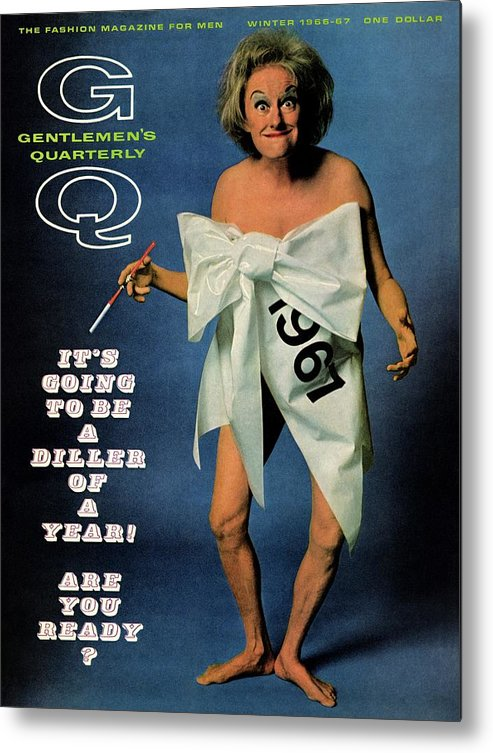 Actress Metal Print featuring the photograph Gq Cover Featuring Comedienne Phyllis Diller by Carl Fischer