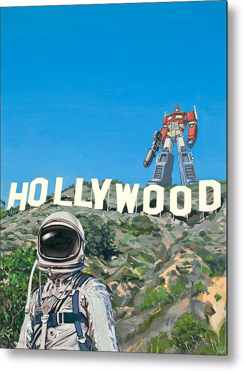 Astronaut Metal Print featuring the painting Hollywood Prime by Scott Listfield