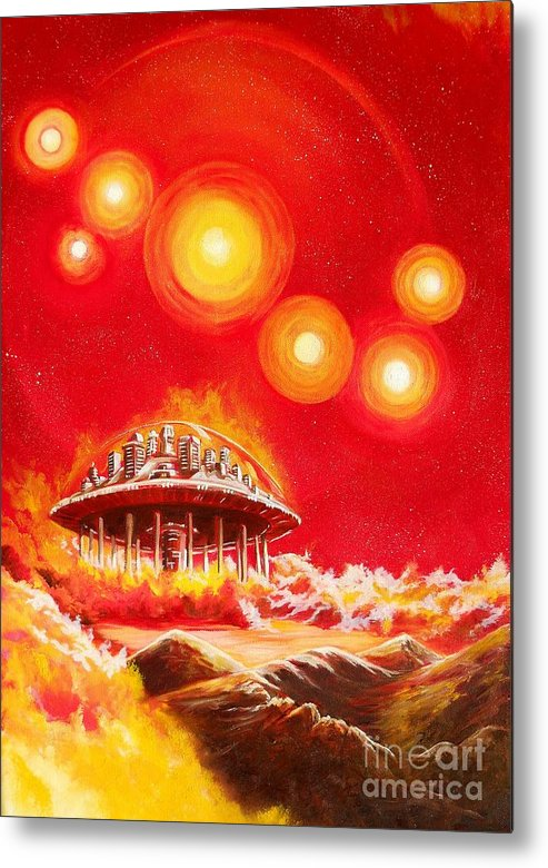 House Metal Print featuring the painting House of the Rising Suns by Murphy Elliott
