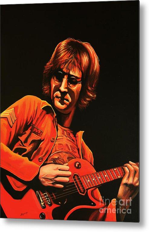 John Lennon Metal Print featuring the painting John Lennon Painting by Paul Meijering