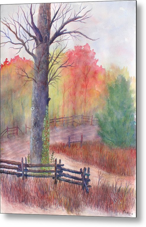 Fall Metal Print featuring the painting Joy of Fall by Ben Kiger