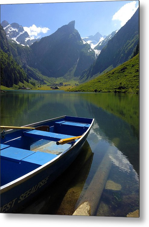 Seealpsee Metal Print featuring the photograph Lake Seealpsee Alpstein Canton Appenzell Switzerland by PIXELS XPOSED Ralph A Ledergerber Photography