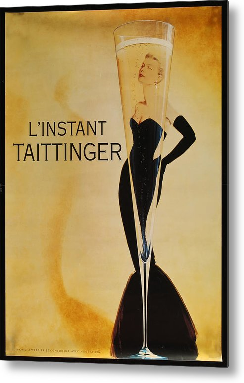 L'instant Taittanger Metal Print featuring the digital art L'Instant Taittinger by Georgia Fowler