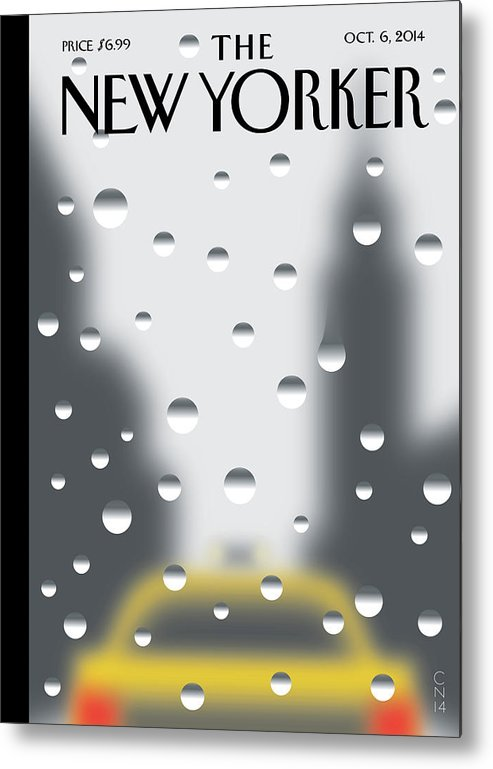 141060 Metal Print featuring the painting Rainy Day by Christoph Niemann