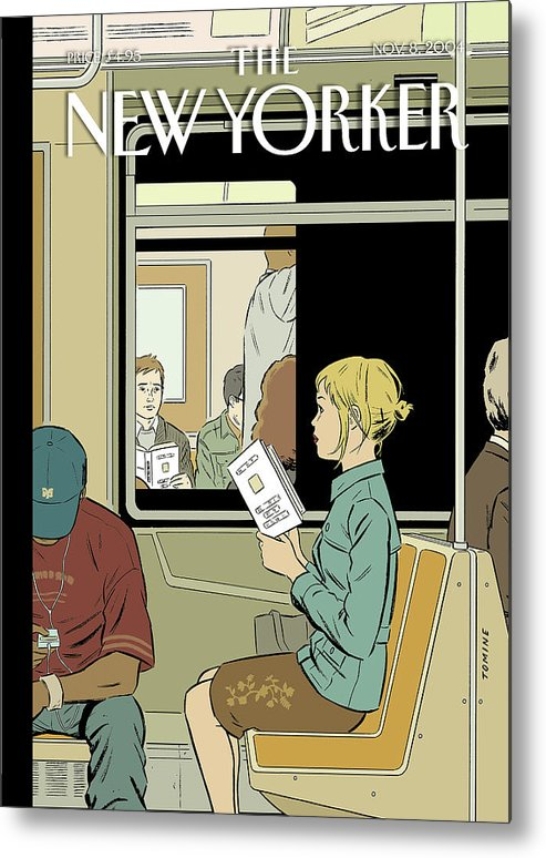 120017 120017  Atm Adrian Tomine Metal Print featuring the painting Missed Connection by Adrian Tomine
