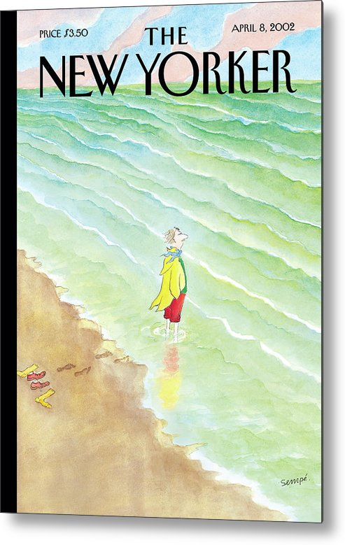 Seashore Metal Print featuring the painting Intrepid by Jean-Jacques Sempe