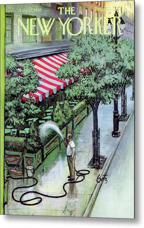 Restaurant Metal Print featuring the painting New Yorker August 27th, 1955 by Arthur Getz