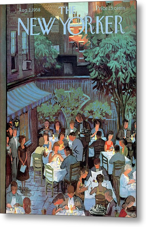 Arthur Getz Agt Metal Print featuring the painting New Yorker August 2nd, 1958 by Arthur Getz