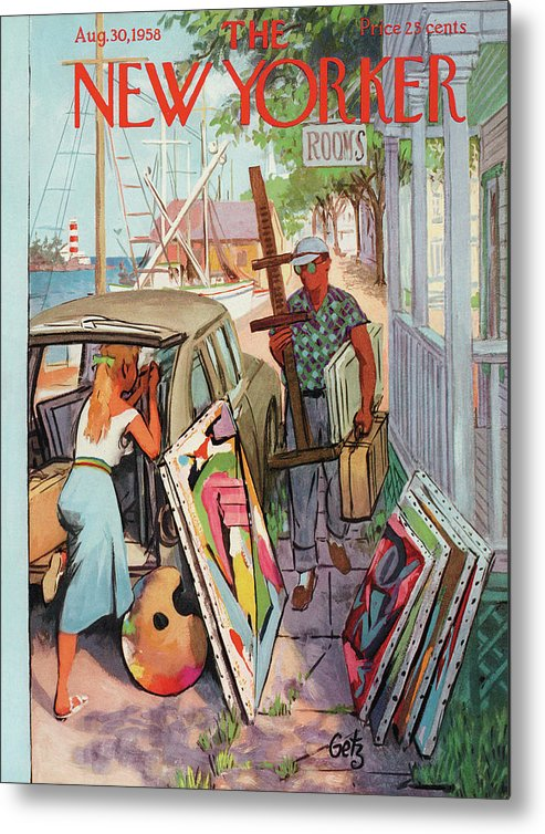 Arthur Getz Agt Metal Print featuring the painting New Yorker August 30th, 1958 by Arthur Getz