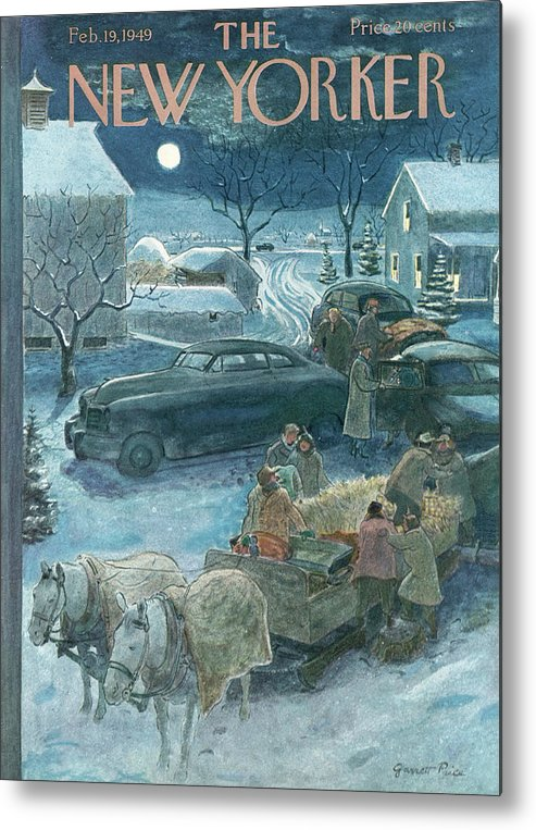 Season Metal Print featuring the painting New Yorker February 19th, 1949 by Garrett Price