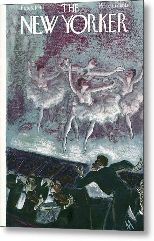 Ballet Metal Print featuring the painting New Yorker February 6, 1943 by Julian de Miskey