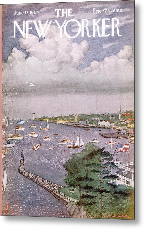 Albert Hubbell Ahu Metal Print featuring the painting New Yorker June 13th, 1964 by Albert Hubbell