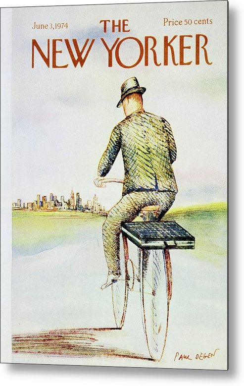 Illustration Metal Print featuring the painting New Yorker June 3rd 1974 by Paul Degen